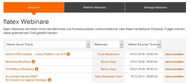 Flatex Webinare