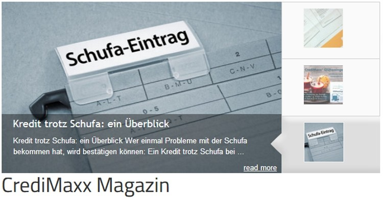 CrediMaxx Magazin