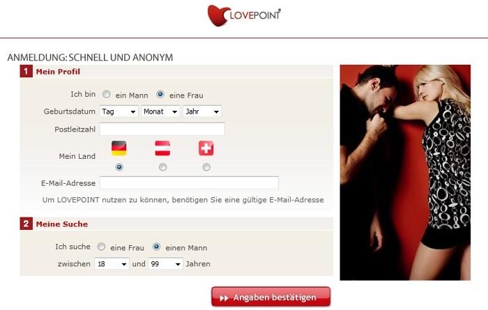 Lovepoint Registrierung
