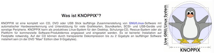 KNOPPIX Erklärung