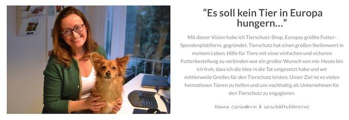 Tierschutz-Shop Werbung