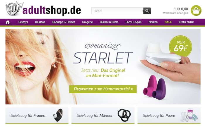 adultshop.de Webseite