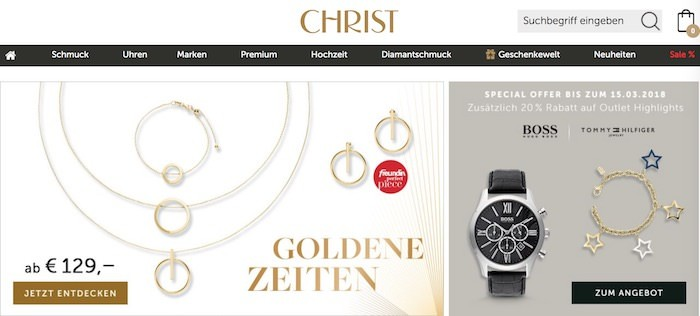 Christ Webseite