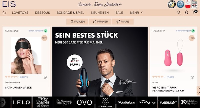 Eis.de Webseite