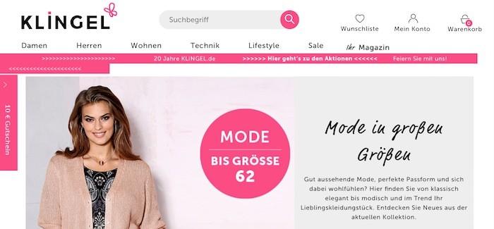 Klingel Webseite