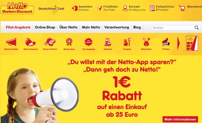 Netto Webseite