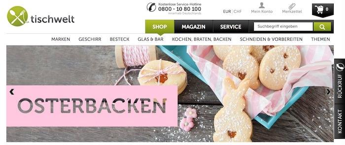 Tischwelt Webseite