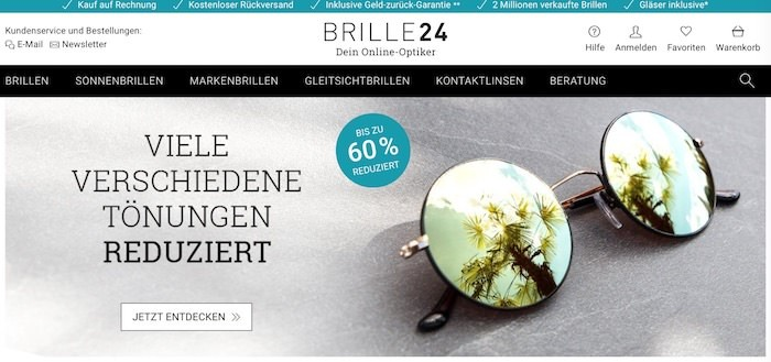 Brille24 Webseite