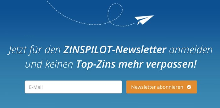 Zinspilot Newsletter