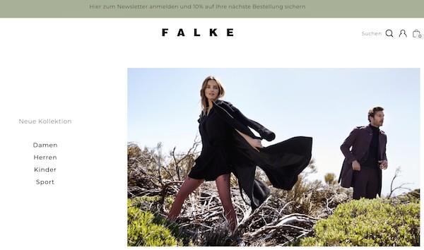 FALKE Webseite