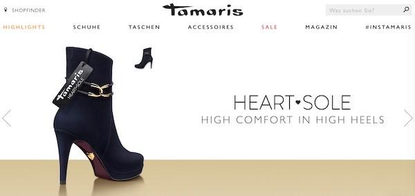 Tamaris Webseite