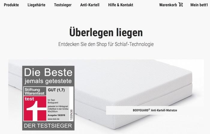 Bett1.de Webseite