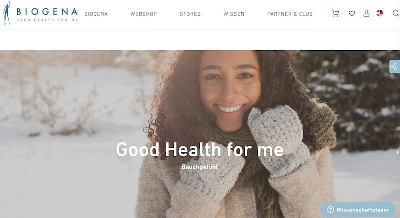 Biogena Webseite