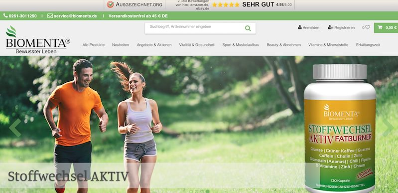 Biomenta Webseite
