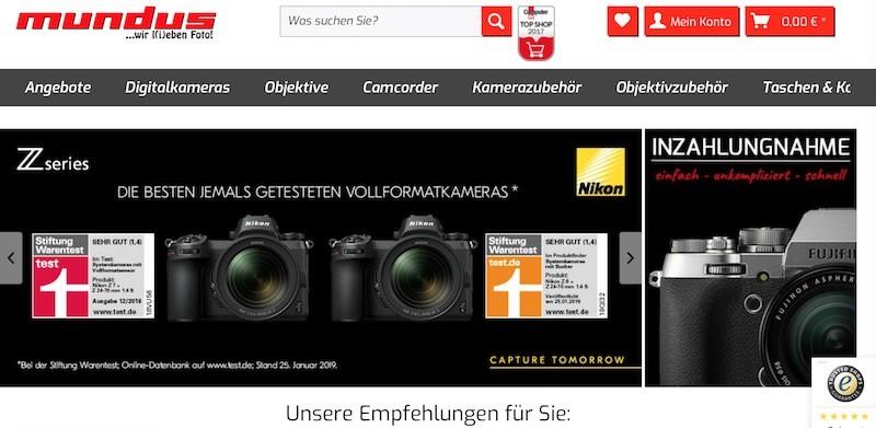 Foto Mundus Webseite