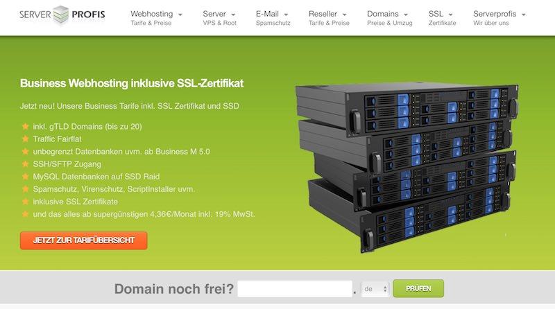 Serverprofis Webseite
