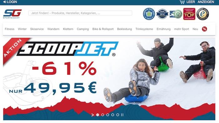 Sportgigant Webseite