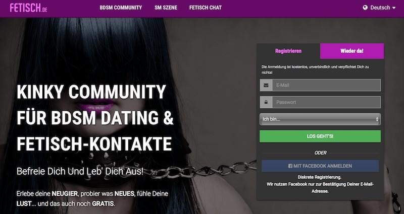 Fetisch.de Webseite