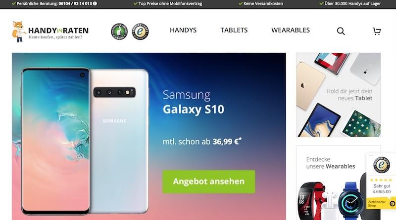 HandyInRaten Webseite
