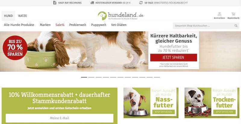 Hundeland Webseite