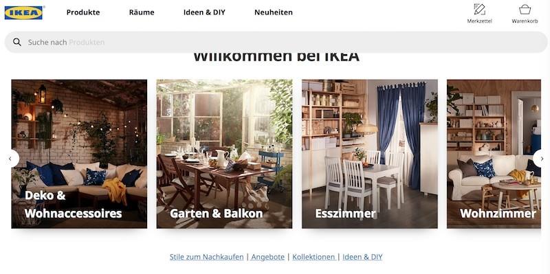 IKEA Webseite