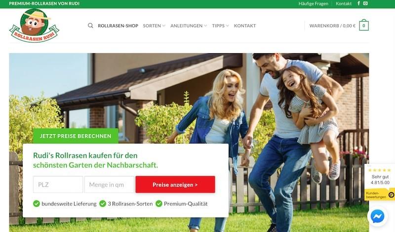 Rollrasen Rudi Webseite