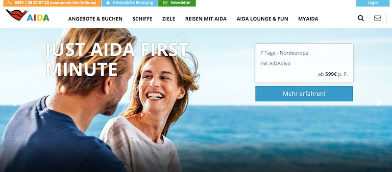 AIDA Webseite