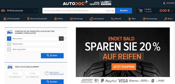 Autodoc Webseite