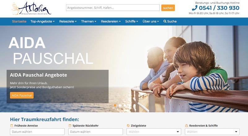 Kreuzfahrten-Zentrale Webseite