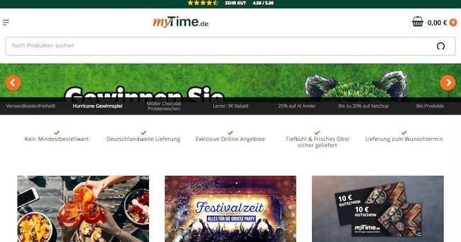 myTime Webseite