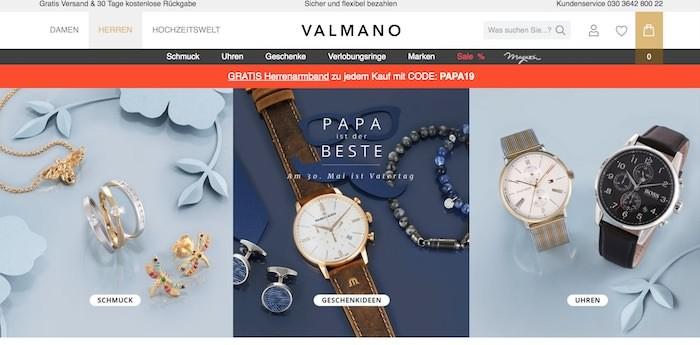 Valmano Webseite