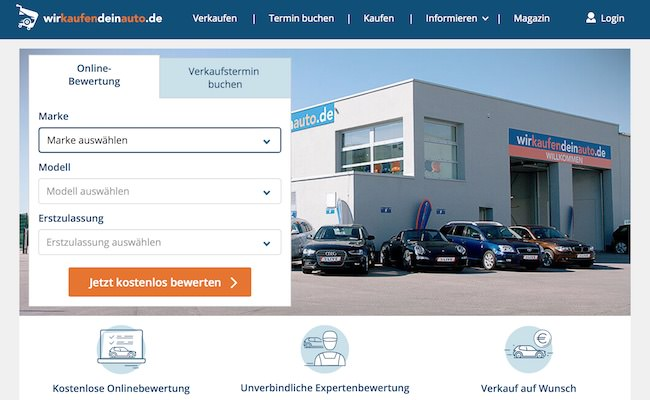 wirkaufendeinauto Webseite