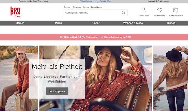 Bonprix Webseite